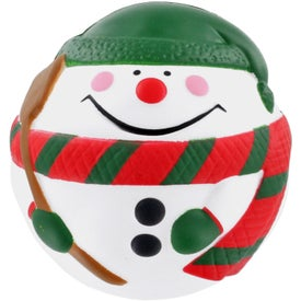 Snowman Stress Ball (White/Green)