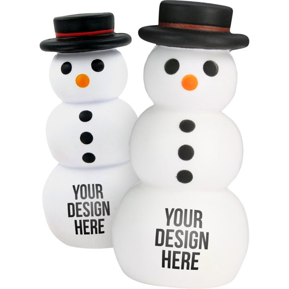 White Snowman Stress Toy