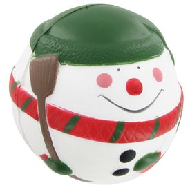 Imprinted Snowman Stress Ball