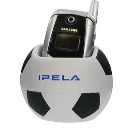 Monogrammed Soccer Ball Cell Phone Holder Stress Ball