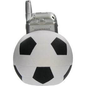 Soccer Ball Cell Phone Holder Stress Ball Printed with Your Logo