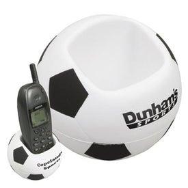 Soccer Ball Cell Phone Holder Stress Ball