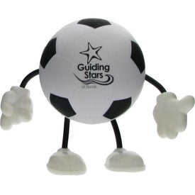 Soccer Figure Stress Ball Branded with Your Logo