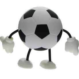 Soccer Figure Stress Ball with Your Slogan