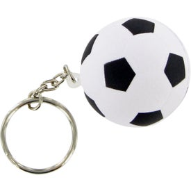 Branded Soccer Ball Keychain Stress Toy