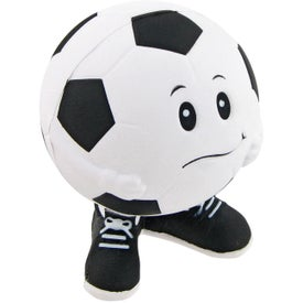 Printed Soccer Ball Man Stress Toy