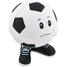 Printed Soccer Ball Man Stress Toy