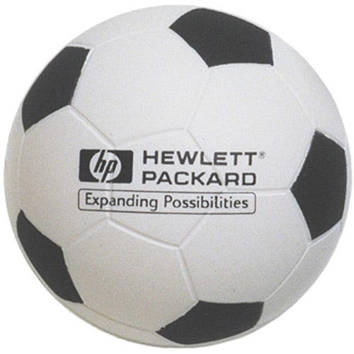 White / Black Soft Soccer Ball Stress Reliever