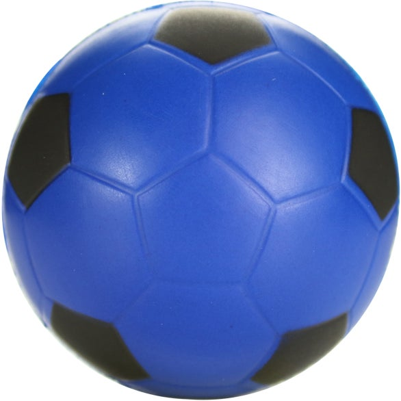 Blue / Black Soccer Ball Stress Toy