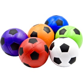 Imprinted Soccer Ball Stress Toy