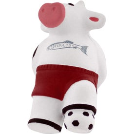 Custom Soccer Cow Stress Reliever