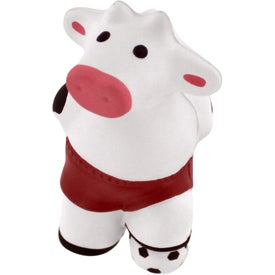 Promotional Soccer Cow Stress Reliever