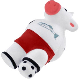 Soccer Cow Stress Reliever with Your Slogan