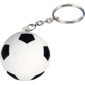 Soccer Ball Stress Ball Key Chain with Your Logo