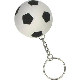 Imprinted Soccer Ball Stress Ball Key Chain
