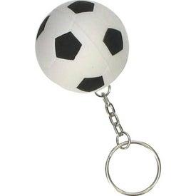 Imprinted Soccer Ball Stress Ball Key Chain