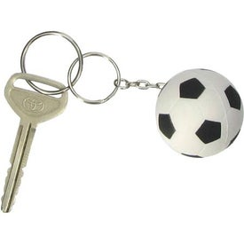 Soccer Ball Stress Ball Key Chain Imprinted with Your Logo