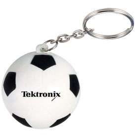 Soccer Ball Stress Ball Key Chain (Economy)
