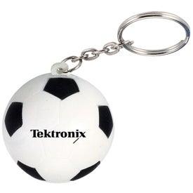 Soccer Ball Stress Ball Key Chain (Economy)