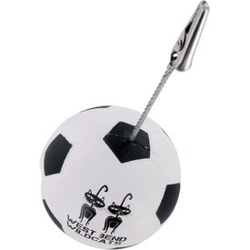 Soccer Memo Holder Stress Ball for Your Company