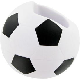 Soccer Ball Cell Phone Holder Stress Toy Imprinted with Your Logo