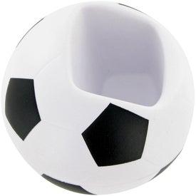 Soccer Ball Cell Phone Holder Stress Toy for Advertising
