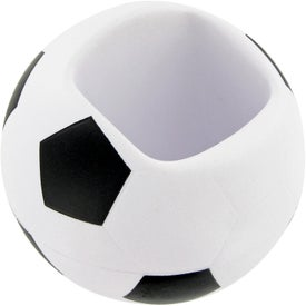 Soccer Ball Cell Phone Holder Stress Toy Branded with Your Logo