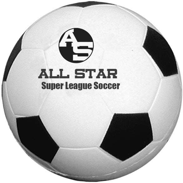 White / Black Soccer Ball Sport Stress Relievers