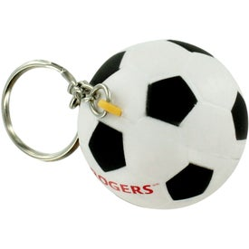 Soccer Ball Keyring Stress Reliever Printed with Your Logo