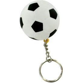 Soccer Ball Keyring Stress Reliever Imprinted with Your Logo