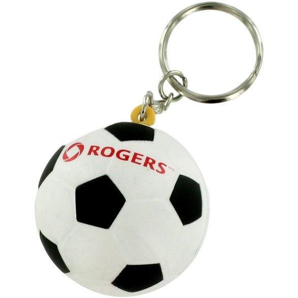 Soccer Ball Keyring Stress Reliever