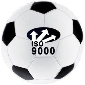 Branded Soccer Ball Stressball