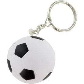 Branded Soccer Ball Stress Ball Key Chain
