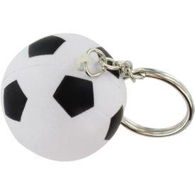 Advertising Soccer Ball Stress Ball Key Chain