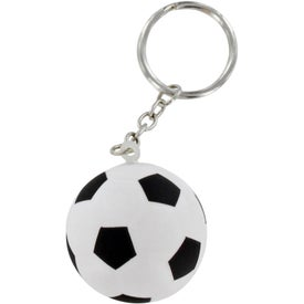 Soccer Ball Stress Ball Key Chain Branded with Your Logo
