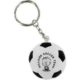 Soccer Ball Stress Ball Key Chain