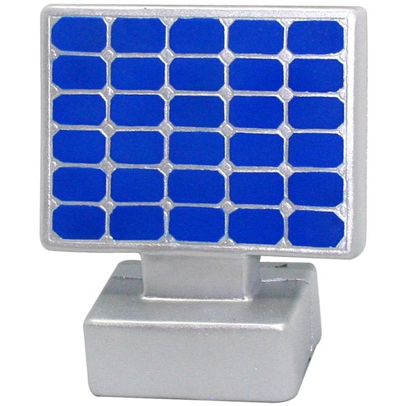 Silver / Blue Solar Panel Stress Reliever