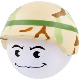 Soldier Mad Cap Stress Toy Branded with Your Logo