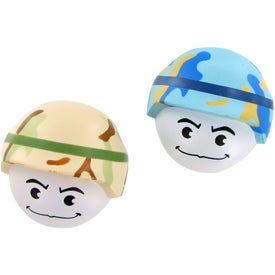 Soldier Mad Cap Stress Toy for Customization