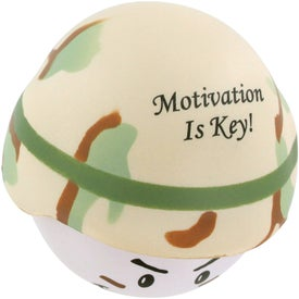 Soldier Mad Cap Stress Ball for Advertising