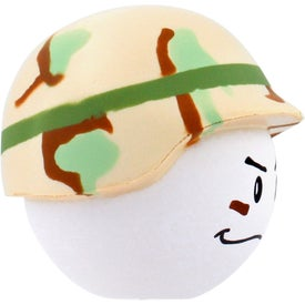 Customized Soldier Mad Cap Stress Ball