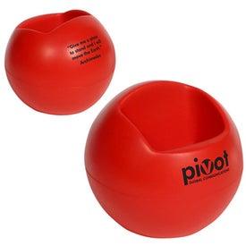 Branded Sphere Cell Phone Holder Stress Ball