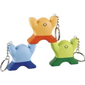 Logo Spunky Stress Keychain Guy