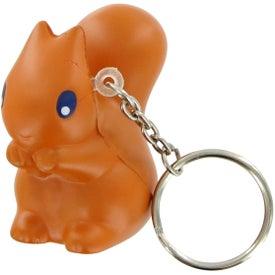 Squirrel Keychain Stress Toy