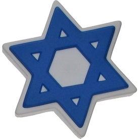 Imprinted Star of David Stress Ball
