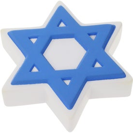 Imprinted Star of David Stress Ball