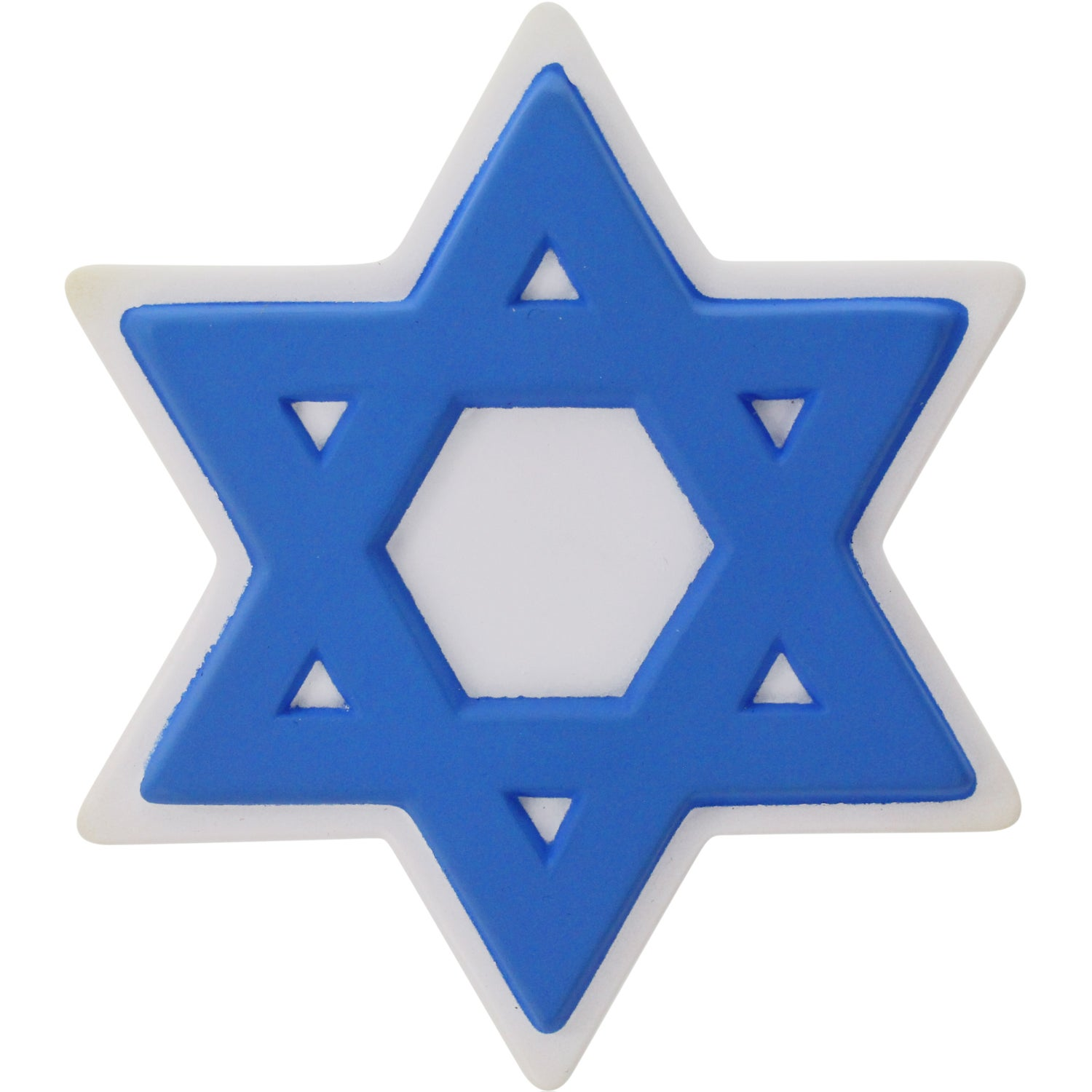 promotional star of david stress balls with custom logo for 1 67 ea rh qualitylogoproducts com Star of David Printable Star of David Clip Art Black and White