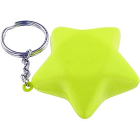 Star Keychain Stress Toy for Promotion