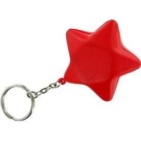 Personalized Star Keychain Stress Toy