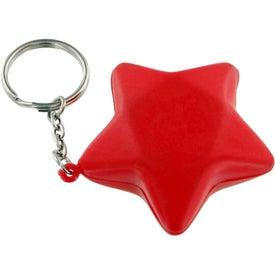 Branded Star Keychain Stress Toy